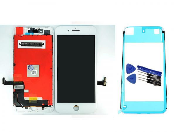 iPhone 6S 7 8 Display Reparatur Set weiß Bildschirm LCD Glas Retina 3D Touch